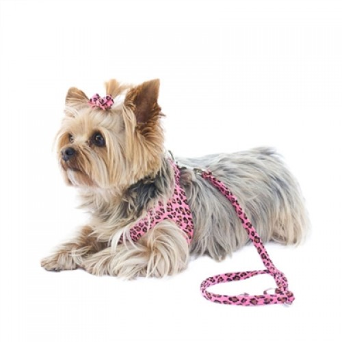4ft Ultra Suede Leash, Pink Cheetah