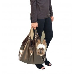 Hollywood Dog Tote Carrier in bronze snake