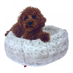 Tiny Donut Bed, Frosted Snow Leopard